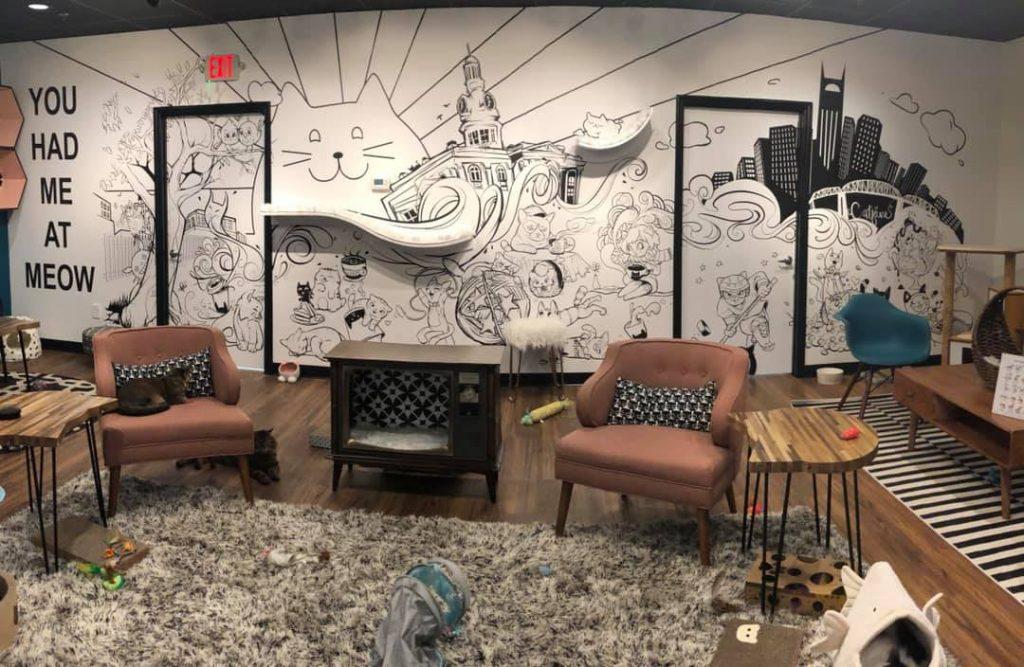 Murfreesboro Cat Cafe mural