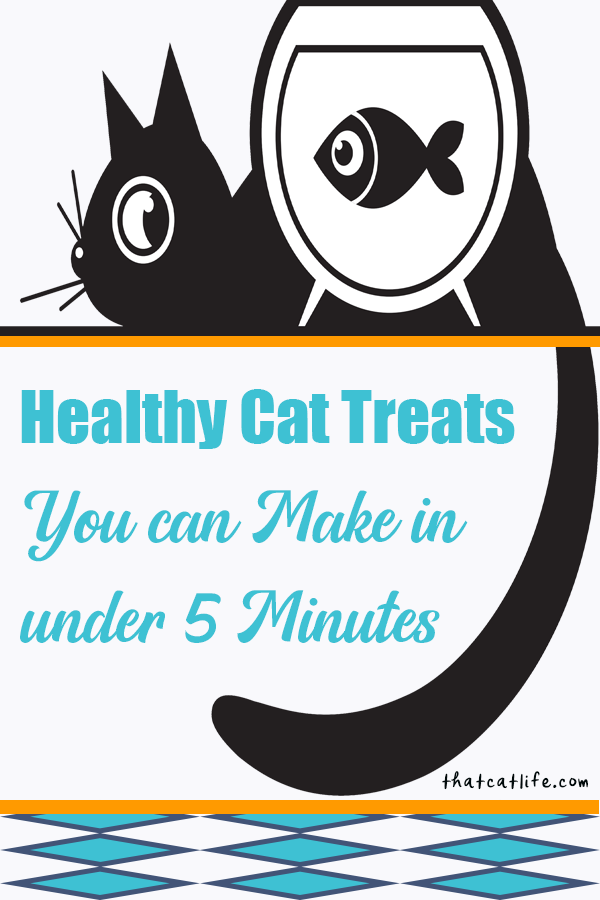 Make your own healthy cat treats in under 5 minutes! Not all commercial cat treats are healthy cat treats. But here are 3 super easy and healthy treats to serve up fast. As easy as popping a top or boiling water, and mega-nutritious as well. Learn why and how these simple treat tricks will boost your kitty\'s health and nutrition.