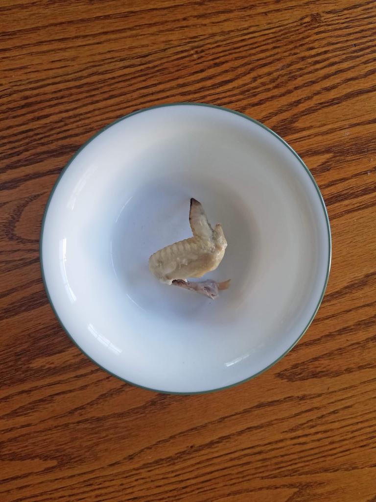 Chicken wing cat treat