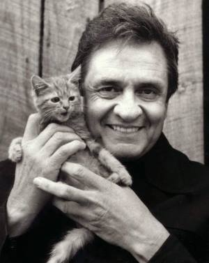 Johnny Cash and Cat