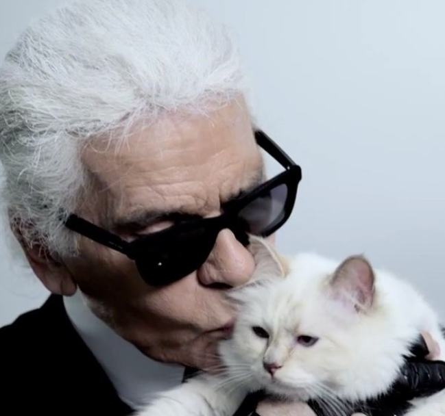 Karl Lagerfield and Choupette